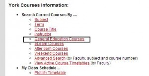 General Education Courses - Step One