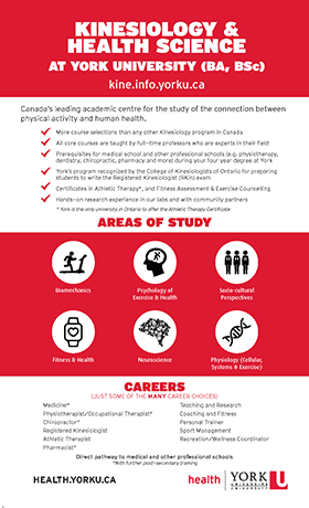 Kinesiology & Health Science Infographic